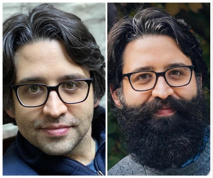 uomo barba