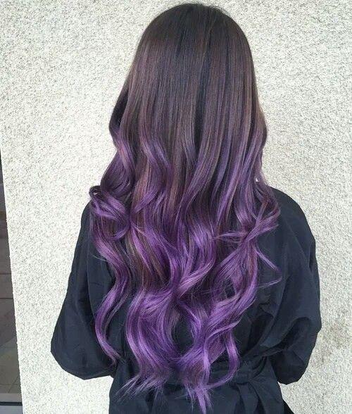 neri viola lunghi mossi