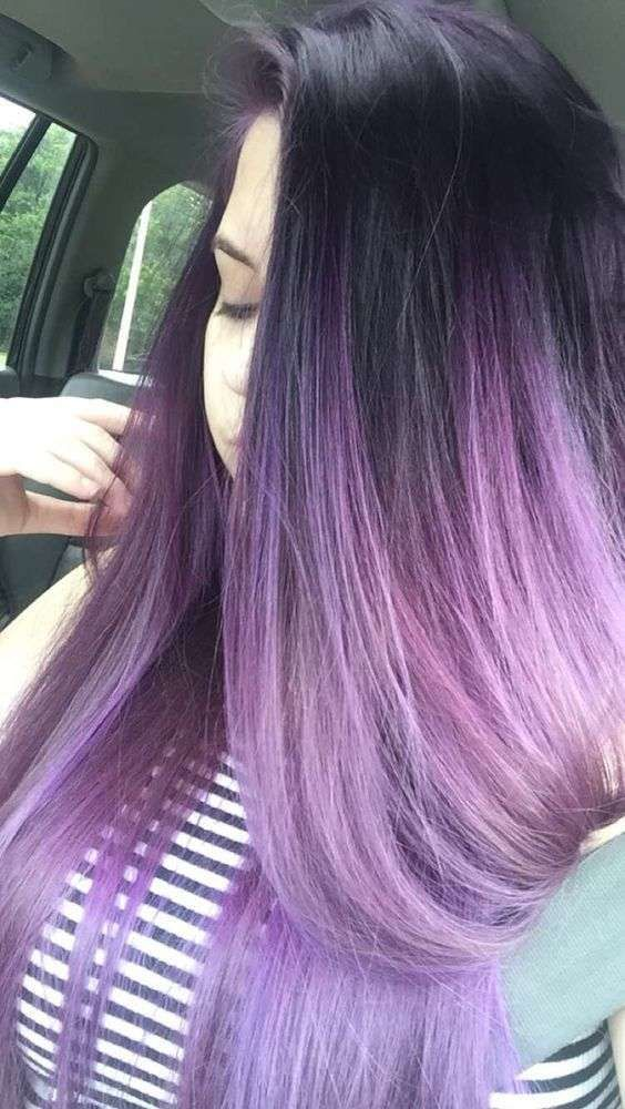 neri viola lunghi lisci