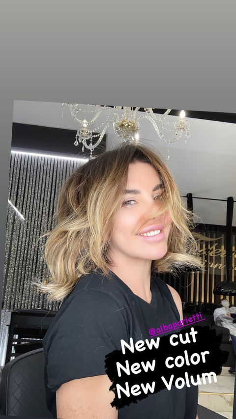 Alba parietti new look