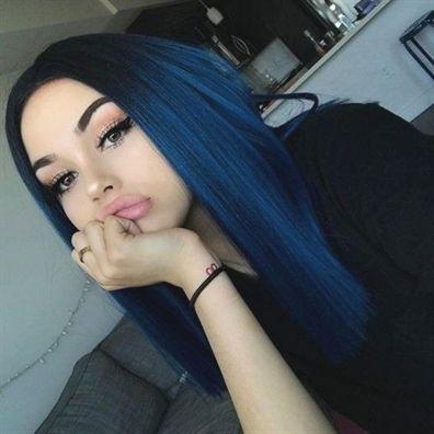 lisci lunghi blu