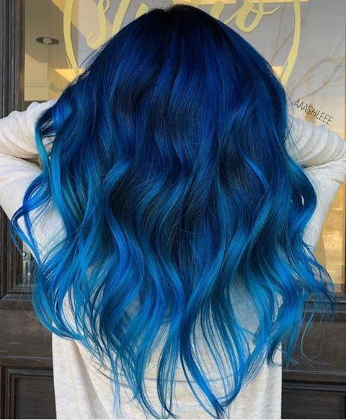 lunghi mossi blu