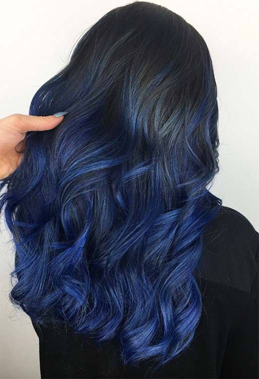 mossi lunghi blu