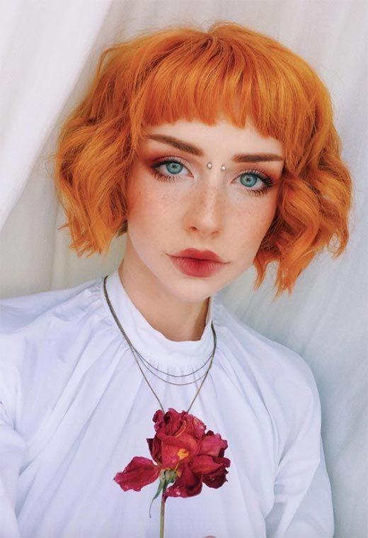 corti frangia mossi arancioni