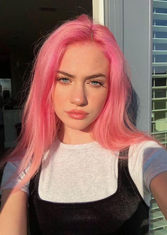 rosa lunghi lisci
