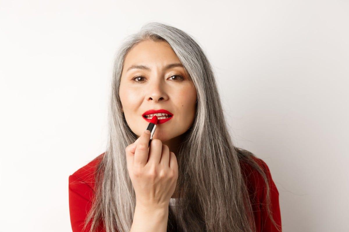 makeup capelli bianchi grigi